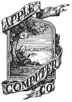 創業時のアップルのロゴ