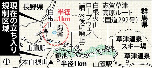 草津白根山噴火 1年 火山避難計画 足踏み 自治体 ノウハウがない