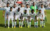 アジア杯決勝トーナメント【日本・サウジアラビア】サウジアラビアの先発メンバー=UAEのシャルジャで2019年1月21日、ロイター