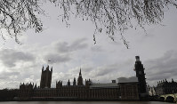 Britain's parliament buildings in London, on Jan. 18, 2019. Talks to end Britain's Brexit stalemate appeared deadlocked, with neither Prime Minister Theresa May nor the main opposition leader shifting from their entrenched positions. (AP Photo/Kirsty Wigglesworth)