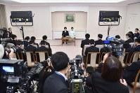 婚約が内定、記者会見される秋篠宮家の長女眞子さまと小室圭さん=東京都港区の赤坂東邸で2017年9月3日、代表撮影