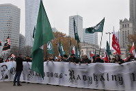 A right-wing group participates in events surrounding the 100th anniversary of Poland's foundation, on November 11, 2018, in Warsaw, Poland. (Mainichi/Koji Miki)