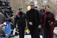 Cristiano Ronaldo arrives at the court in Madrid, on Jan. 22, 2019. (AP Photo/Manu Fernandez)