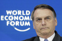 Jair Bolsonaro, President of Brazil, participates in a session at the annual meeting of the World Economic Forum in Davos, Switzerland, on Jan. 22, 2019. (AP Photo/Markus Schreiber)