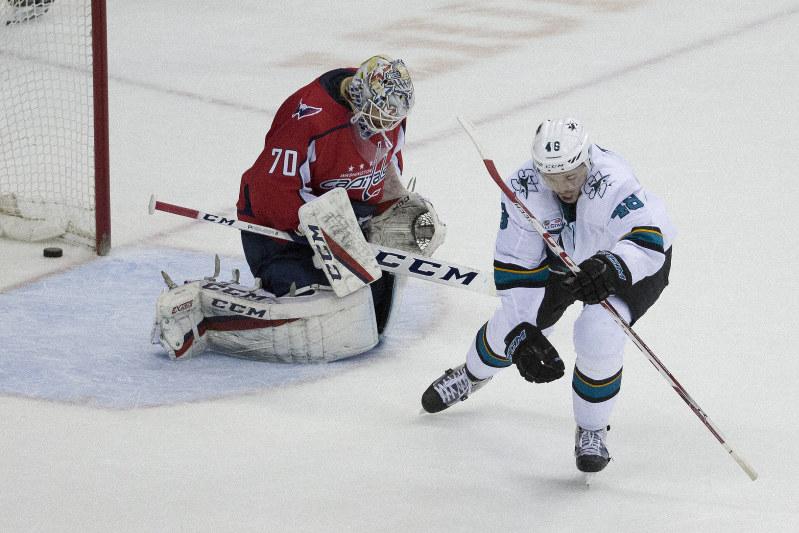 NHL  Hat tricks for Hertl cdd8aa326ea