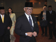 In this Jan. 11, 2019 file photo, Pahang state Crown Prince Tengku Abdullah arrives for a private event at a hotel in Kuala Lumpur. (AP Photo)