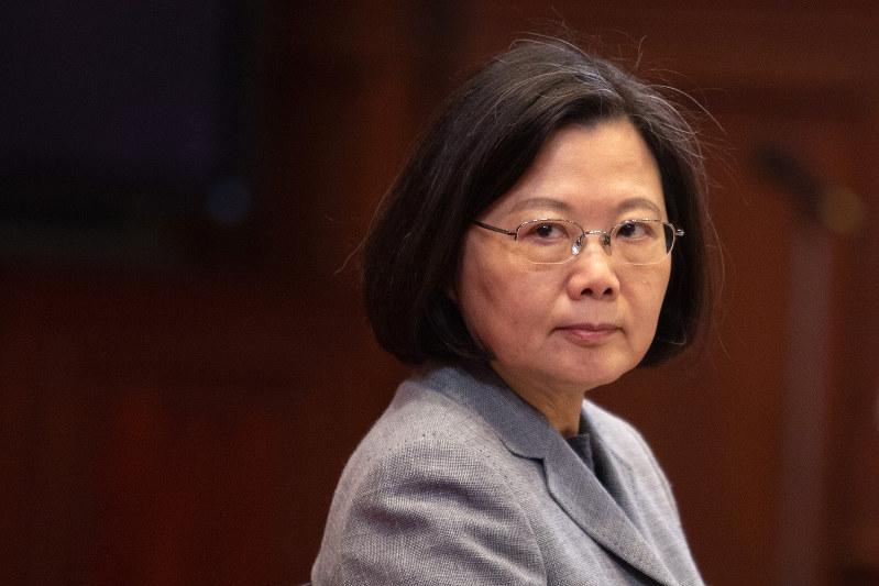 米中覇権争いが中台関係にも影を落とす(台湾の蔡英文総統) Bloomberg