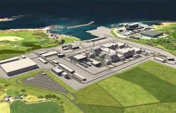 日立製作所が撤退を決めた英中西部アングルジー島の原発の完成予想図(ホライズン・ニュークリア・パワーのHPより転載)