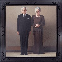 A portrait of Emperor Akihito and Empress Michiko. (Photo courtesy of Sannomaru Shozokan, the Imperial Household Agency)
