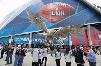 第53回スーパーボウルが開かれる「メルセデス・ベンツ・スタジアム」=米ジョージア州アトランタで2019年2月3日、ロイター
