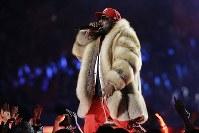 スーパーボウルハーフタイムショーに登場したビッグ・ボーイ=米ジョージア州アトランタで2019年2月3日、AP