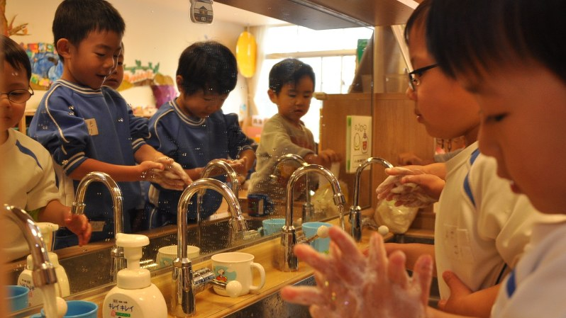 ノロウイルス対策には手洗いが大切だ