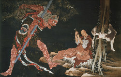 葛飾北斎《弘法大師修法図》紙本1幅 弘化年間(1844~47)西新井大師總持寺 通期展示
