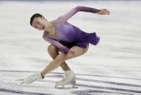 【フィギュア4大陸選手権女子SP】7位発進のティン・スィ(米国)の演技=米カリフォルニア州アナハイムで2019年2月7日、AP