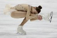 【フィギュア4大陸選手権女子SP】9位発進のキム・イェリム(韓国)の演技=米カリフォルニア州アナハイムで2019年2月7日、AP