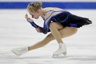 【フィギュア4大陸選手権女子SP】首位発進のブレイデイ・テネル(米国)の演技=米カリフォルニア州アナハイムで2019年2月7日、AP