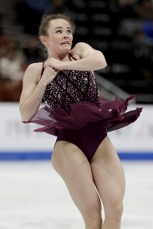 【フィギュア4大陸選手権女子SP】3位発進のマライア・ベル(米国)の演技=米カリフォルニア州アナハイムで2019年2月7日、AP