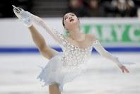 【フィギュア4大陸選手権女子SP】4位発進のイム・ウンス(韓国)の演技=米カリフォルニア州アナハイムで2019年2月7日、AP