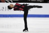 【フィギュア4大陸選手権男子SP】カリージョ(メキシコ)の演技=米カリフォルニア州アナハイムで2019年2月7日、AP