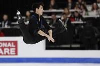【フィギュア4大陸選手権男子SP】樋渡知樹(米国)の演技=米カリフォルニア州アナハイムで2019年2月7日、AP