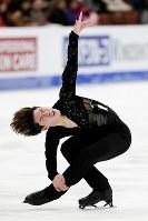 【フィギュア4大陸選手権男子SP】田中刑事(日本)の演技=米カリフォルニア州アナハイムで2019年2月7日、AP