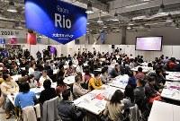 東京五輪の大会ボランティアの説明会=東京都千代田区で2019年2月9日午前11時28分、宮間俊樹撮影