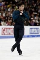 【フィギュア4大陸選手権】男子フリーで圧倒的な演技を見せ逆転優勝した宇野昌磨(日本)の演技=米カリフォルニア州アナハイムで2019年2月9日、AP