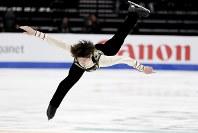 【フィギュア4大陸選手権】男子フリー、田中刑事(倉敷芸術科学大大学院)の演技=米カリフォルニア州アナハイムで2019年2月9日、AP