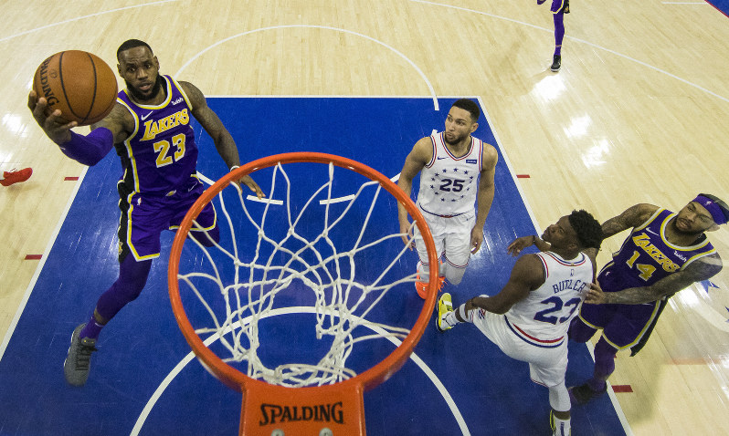 fea59c651 NBA  New-look 76ers beat LeBron James and Lakers 143-120 - The Mainichi