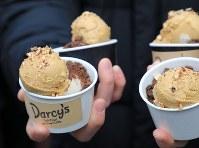 松本薫さんが勤めるアイスクリーム屋のアイスクリーム=東京都新宿区で2019年2月12日午後0時33分、梅村直承撮影