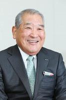 カプコンの辻本憲三会長兼CEO=大阪市中央区のカプコン本社で、菅知美撮影