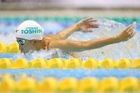 競泳女子200メートル個人メドレー決勝を制した大橋悠依のバタフライ=千葉県国際総合水泳場で2019年2月17日、梅村直承撮影