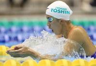 競泳女子200メートル個人メドレー決勝を制した大橋悠依の平泳ぎ=千葉県国際総合水泳場で2019年2月17日、梅村直承撮影