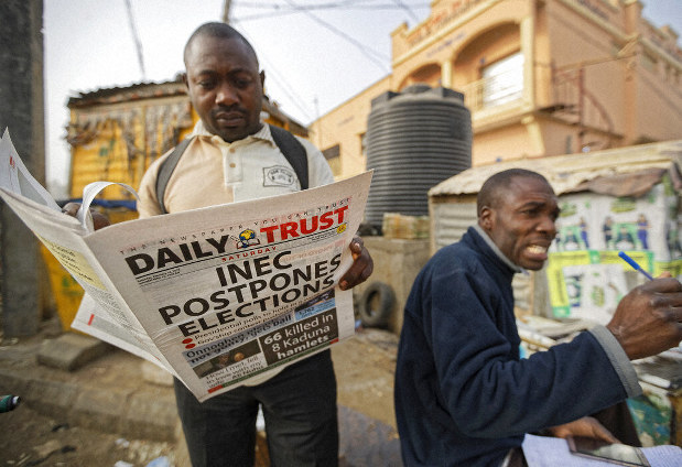 Nigeria's candidates blame each other in surprise vote delay - The