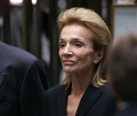 In this July 23, 1999 file photo, Lee Radziwill, sister of Jacqueline Kennedy Onassis, leaves the Church of St. Thomas More in New York. (AP Photo/Doug Mills)