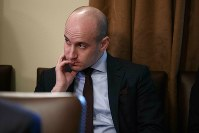 In this Jan. 2, 2019, file photo White House senior adviser Stephen Miller listens as President Donald Trump speaks during a cabinet meeting at the White House in Washington. (AP Photo/Evan Vucci)
