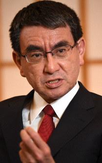 Foreign Minister Taro Kono (Mainichi/Taro Fujii)