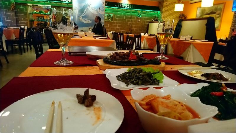 モスクワ市内にある北朝鮮レストラン 筆者撮影