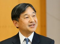 Crown Prince Naruhito speaks during a press conference at his Togu Palace residence in Tokyo's Minato Ward on Feb. 21, 2019, two days ahead of his 59th birthday. (Mainichi/Junichi Sasaki)