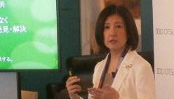 大塚家具の大塚久美子社長=東京都内で2016年9月、浜中慎哉撮影