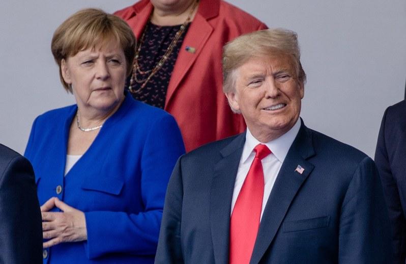 トランプ大統領も昨年7月のNATO首脳会議で、NS2を批判していた(Bloomberg)