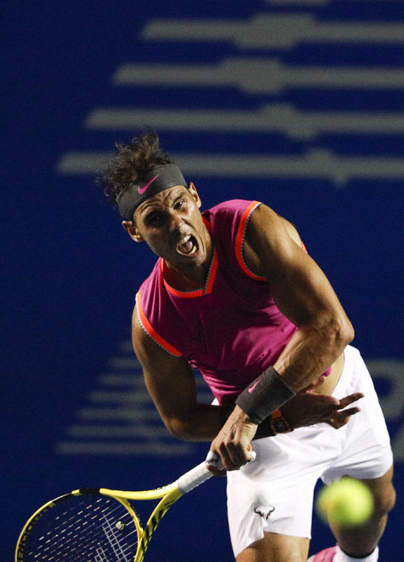 Tennis Nadal Tumbles Out Of Mexican Open Falling To Kyrgios The Mainichi