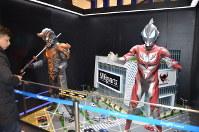 ウルトラマンの特別展会場に置かれたジオラマ=上海市内で2019年3月1日、工藤哲撮影
