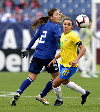 Japan beat Brazil, set up England showdown in SheBelieves Cup