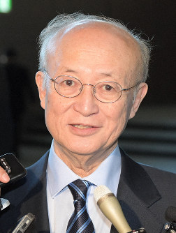 国際原子力機関(IAEA)の天野之弥事務局長=川田雅浩撮影
