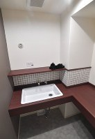 マンションの共用部分に作られたグルーミングルーム=福岡市早良区で2019年3月4日、徳野仁子撮影