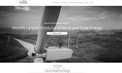 安定成長が続くネクステラ・エナジーのホームページ