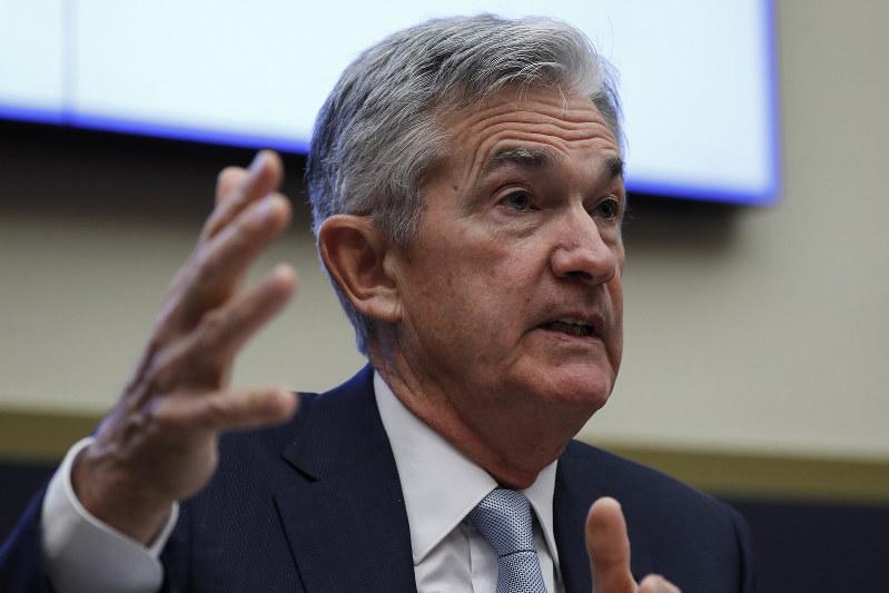 インフレ期待の伸び悩みを懸念するパウエル議長(Bloomberg)