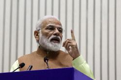 強硬姿勢を打ち出すインドのモディ首相(Bloomberg)