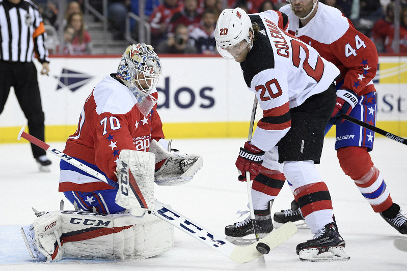classic fit df42e d2cc8 NHL: Holtby, Capitals blank Devils 3-0 for 6th straight win ...